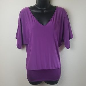 Express Medium Purple Top With Shimmering Bottom